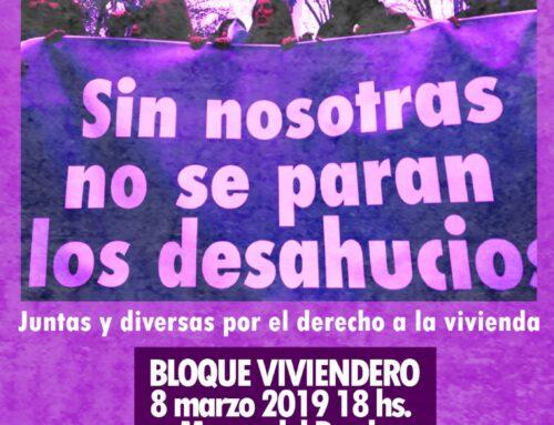 #NosotrasNosQuedamos. Llamamiento de las Mujeres del Movimiento de Vivienda al 8M 2019