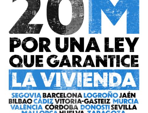 Comunicado urgente ante la filtración a la prensa por parte del PSOE de una propuesta de ley para no regular los alquileres
